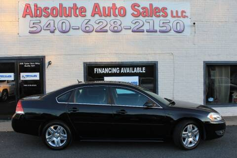2011 Chevrolet Impala for sale at Absolute Auto Sales in Fredericksburg VA