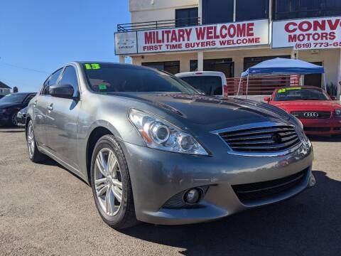 2013 Infiniti G37 Sedan for sale at Convoy Motors LLC in National City CA