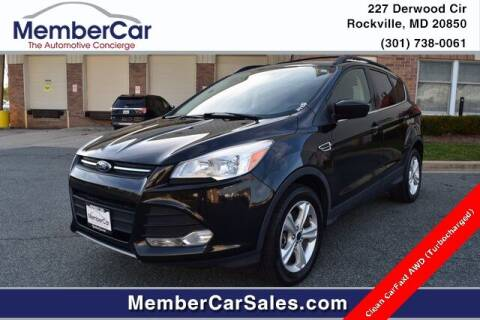2015 Ford Escape for sale at MemberCar in Rockville MD
