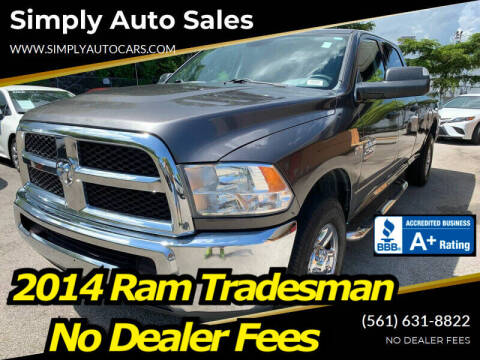 2014 RAM Ram Pickup 2500 for sale at Simply Auto Sales in Palm Beach Gardens FL