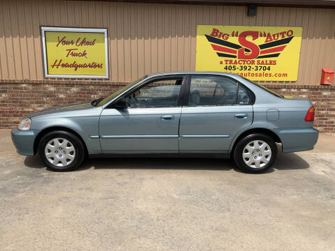 2000 Honda Civic for sale at BIG 'S' AUTO & TRACTOR SALES in Blanchard OK