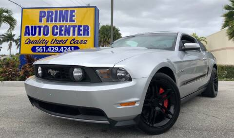 2011 Ford Mustang for sale at PRIME AUTO CENTER in Palm Springs FL