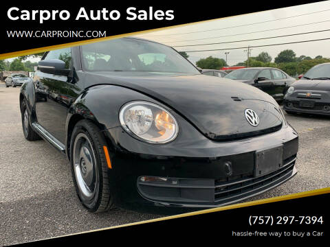 2012 Volkswagen Beetle for sale at Carpro Auto Sales in Chesapeake VA