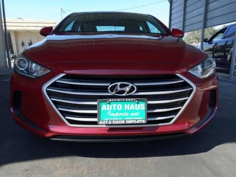 2017 Hyundai Elantra for sale at Auto Haus Imports in Grand Prairie TX