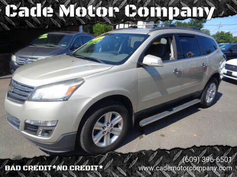2013 Chevrolet Traverse for sale at Cade Motor Company in Lawrence Township NJ
