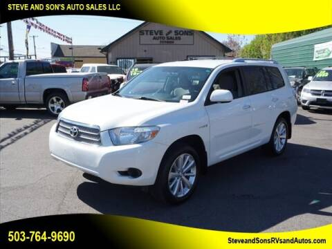 2009 Toyota Highlander Hybrid for sale at Steve & Sons Auto Sales in Happy Valley OR
