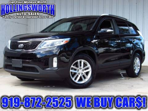 2015 Kia Sorento for sale at Hollingsworth Auto Sales in Raleigh NC