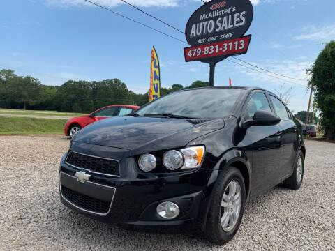 2012 Chevrolet Sonic for sale at McAllister's Auto Sales LLC in Van Buren AR