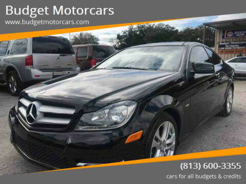 2012 Mercedes-Benz C-Class for sale at Budget Motorcars in Tampa FL