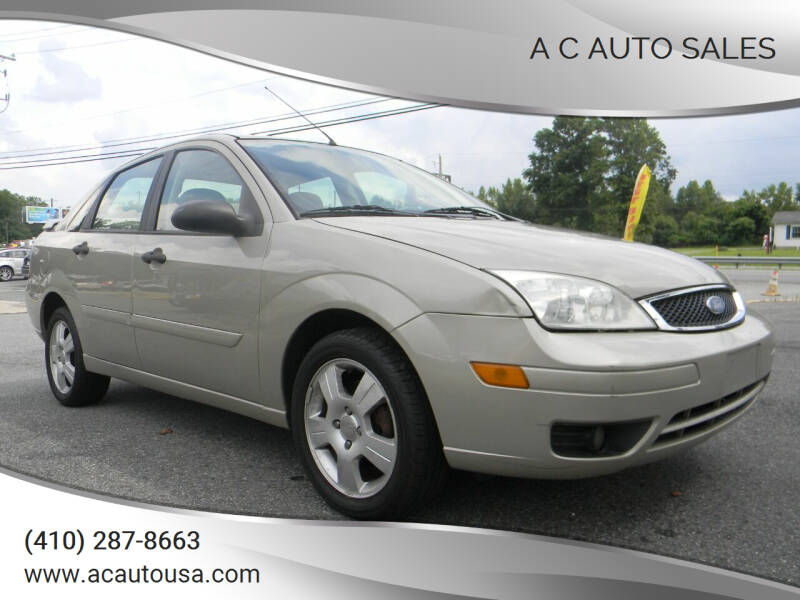 2006 Ford Focus for sale at A C Auto Sales in Elkton MD