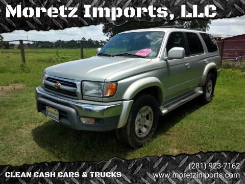 2000 Toyota 4Runner for sale at Moretz Imports, LLC in Spring TX