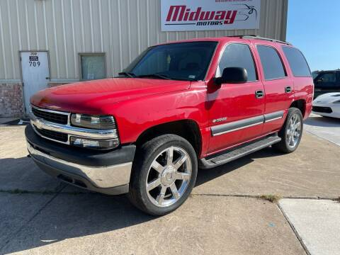 2002 Chevrolet Tahoe for sale at Midway Motors in Conway AR
