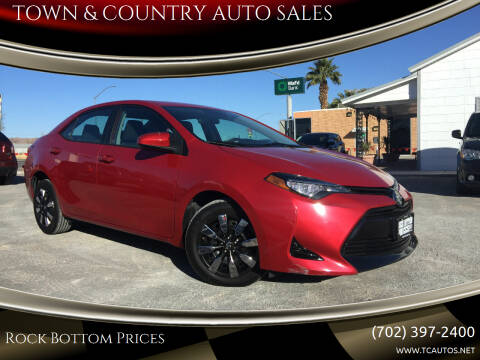 2017 Toyota Corolla for sale at TOWN & COUNTRY AUTO SALES in Overton NV