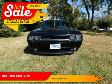 2013 Dodge Challenger for sale at CAR QUEST AUTO SALES in Houston TX