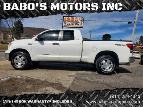 2008 Toyota Tundra for sale at BABO'S MOTORS INC in Johnstown PA