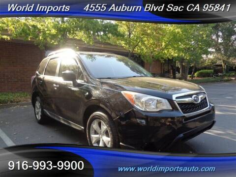 2014 Subaru Forester for sale at World Imports in Sacramento CA