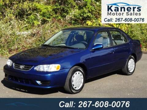 2001 Toyota Corolla for sale at Kaners Motor Sales in Huntingdon Valley PA