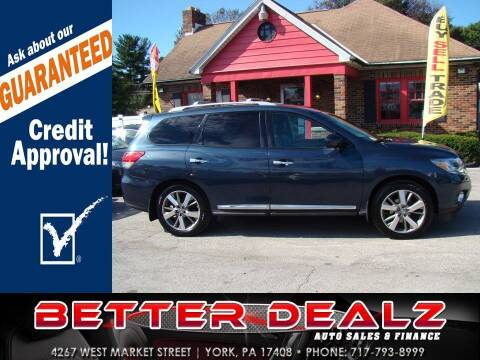 2014 Nissan Pathfinder for sale at Better Dealz Auto Sales & Finance in York PA