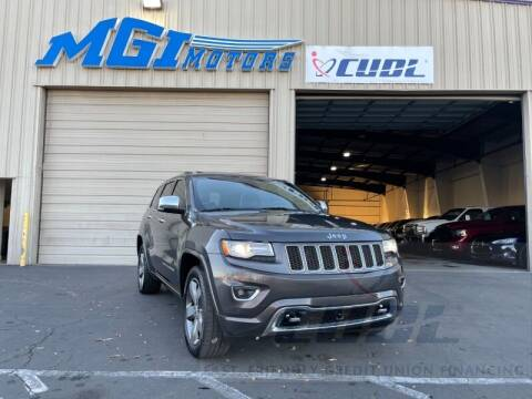 2014 Jeep Grand Cherokee for sale at MGI Motors in Sacramento CA
