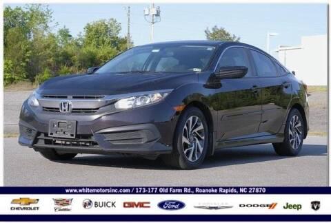 2016 Honda Civic for sale at WHITE MOTORS INC in Roanoke Rapids NC
