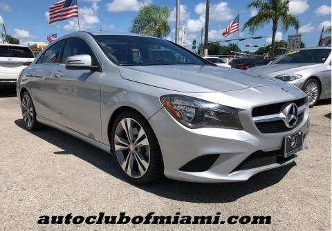 2016 Mercedes-Benz CLA for sale at AUTO CLUB OF MIAMI, INC in Miami FL