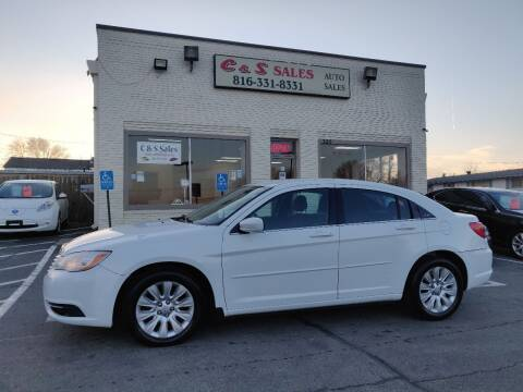 2012 Chrysler 200 for sale at C & S SALES in Belton MO