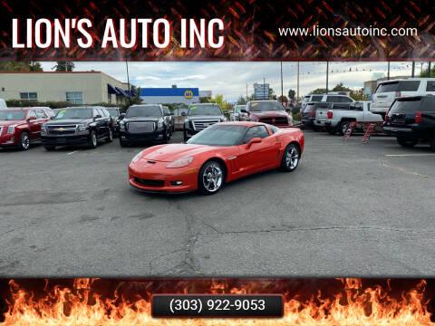 2013 Chevrolet Corvette for sale at Lion's Auto INC in Denver CO