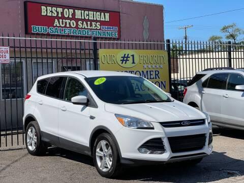 2016 Ford Escape for sale at Best of Michigan Auto Sales in Detroit MI