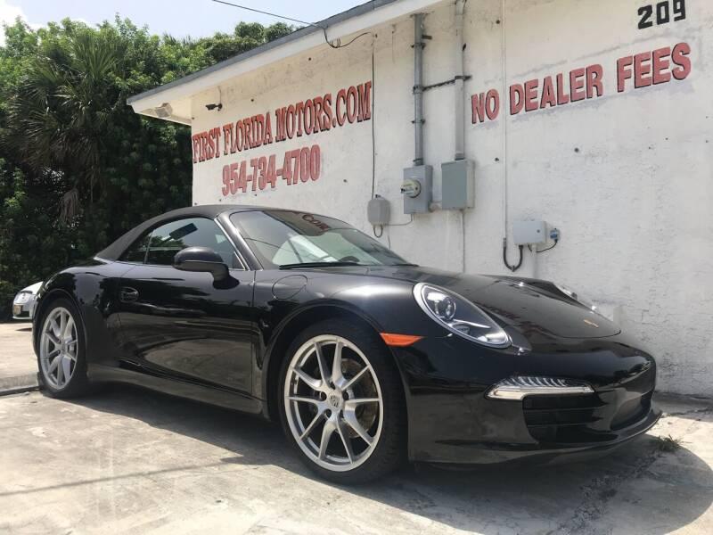 2013 Porsche 911 for sale at FIRST FLORIDA MOTOR SPORTS in Pompano Beach FL