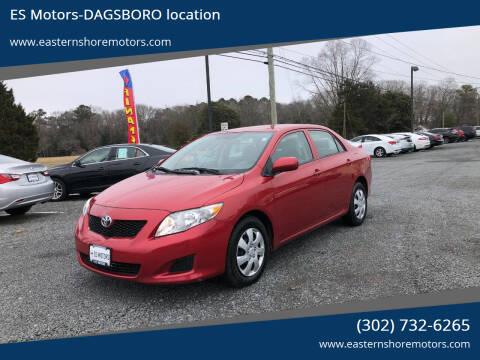 2010 Toyota Corolla for sale at ES Motors-DAGSBORO location in Dagsboro DE