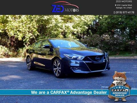 2016 Nissan Maxima for sale at Zed Motors in Raleigh NC