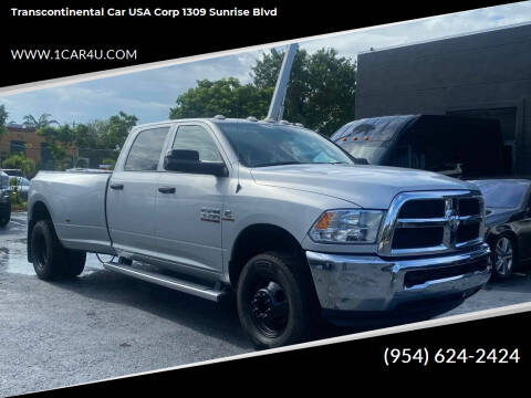 2017 RAM Ram Pickup 3500 for sale at Transcontinental Car in Fort Lauderdale FL