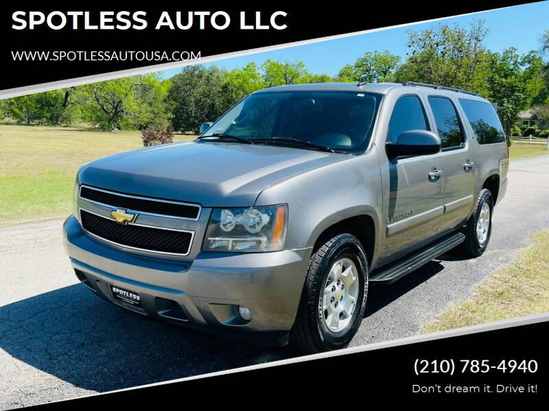 2007 Chevrolet Suburban for sale at SPOTLESS AUTO LLC in San Antonio TX