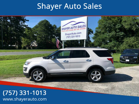 2016 Ford Explorer for sale at Shayer Auto Sales in Cape Charles VA