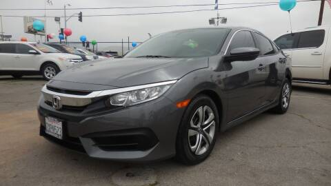 2017 Honda Civic for sale at Luxor Motors Inc in Pacoima CA