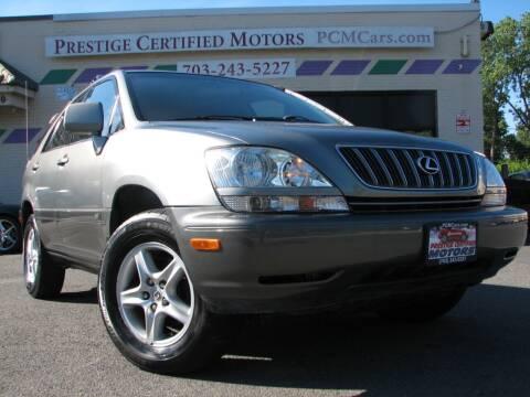 2003 Lexus RX 300 for sale at Prestige Certified Motors in Falls Church VA