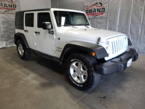 2016 Jeep Wrangler Unlimited for sale at GRAND AUTO SALES in Grand Island NE