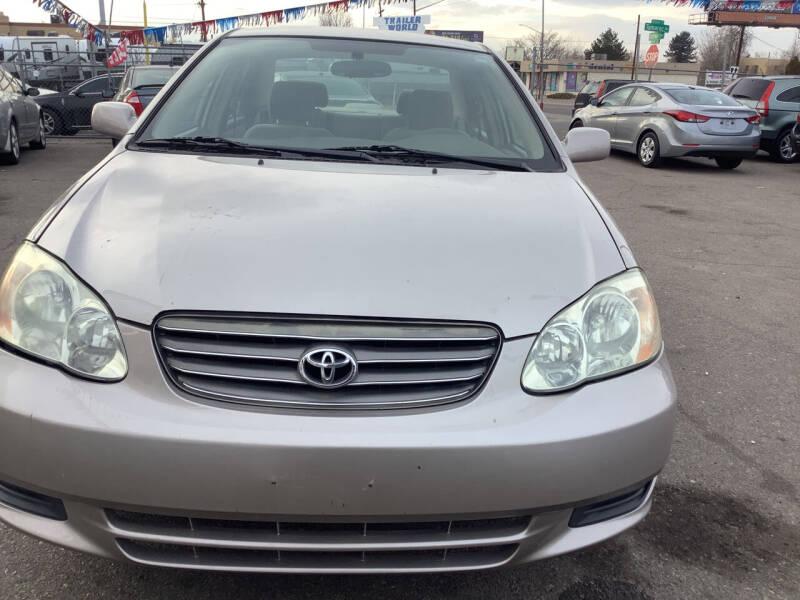 2003 Toyota Corolla for sale at GPS Motors in Denver CO