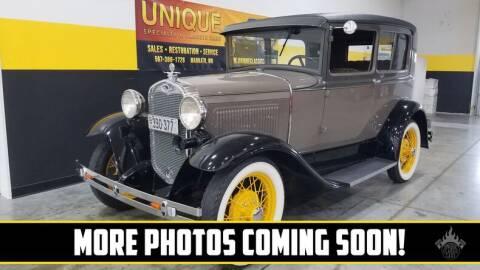 1930 Ford Model A for sale at UNIQUE SPECIALTY & CLASSICS in Mankato MN