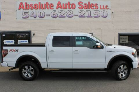 2013 Ford F-150 for sale at Absolute Auto Sales in Fredericksburg VA