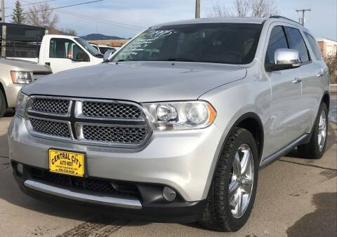 2011 Dodge Durango for sale at Central City Auto West in Lewistown MT