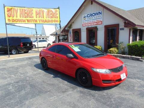 2010 Honda Civic for sale at Crown Used Cars in Oklahoma City OK