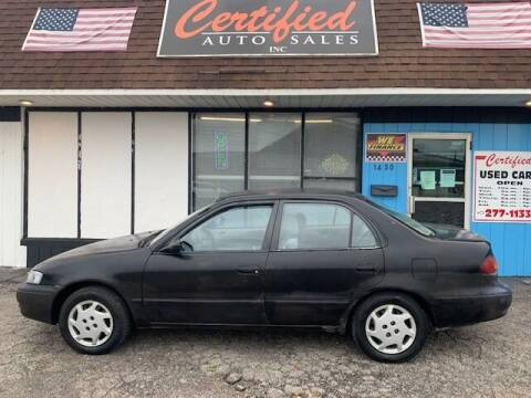 1999 Toyota Corolla for sale at Certified Auto Sales, Inc in Lorain OH