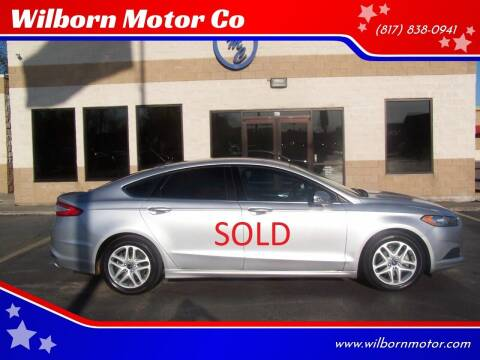 2016 Ford Fusion for sale at Wilborn Motor Co in Fort Worth TX