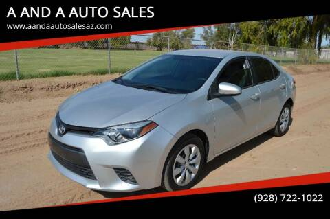2016 Toyota Corolla for sale at A AND A AUTO SALES in Gadsden AZ