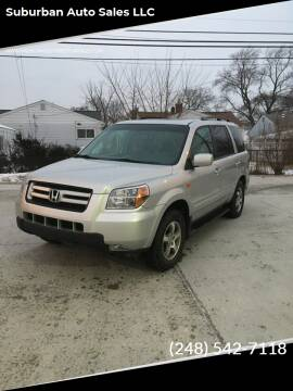 2006 Honda Pilot for sale at Suburban Auto Sales LLC in Madison Heights MI