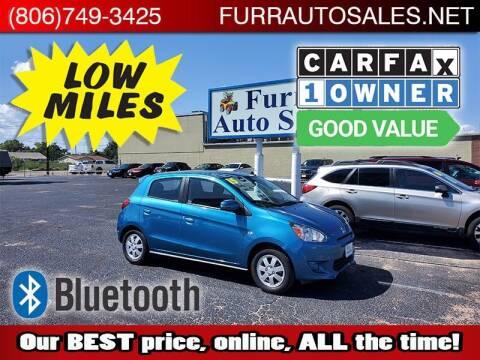 2015 Mitsubishi Mirage for sale at FURR AUTO SALES in Lubbock TX