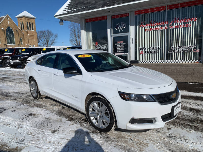 2017 Chevrolet Impala for sale at KUHLMAN MOTORS in Maquoketa IA