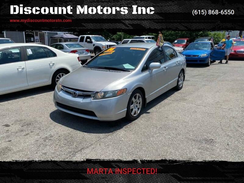 2006 Honda Civic for sale at Discount Motors Inc in Madison TN