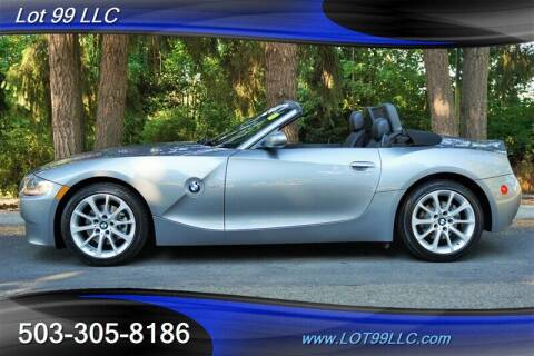 2006 BMW Z4 for sale at LOT 99 LLC in Milwaukie OR
